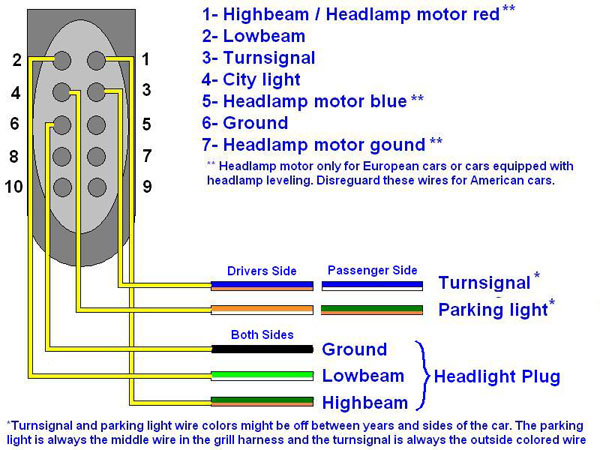 wiring st170diagram 600 german 'st170' style headlights page 2 ford focus forum, ford 2012 ford focus headlight wiring diagram at gsmx.co